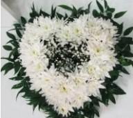 Карзинка из хризантем, сердце