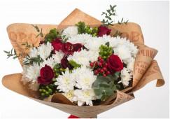 Букет Белые хризантемы