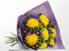 Букет Солнечные хризантемы