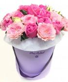 Шляпная коробка Пионовидные розы