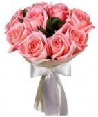 Букет ‹‹9 розовых роз в упаковке››